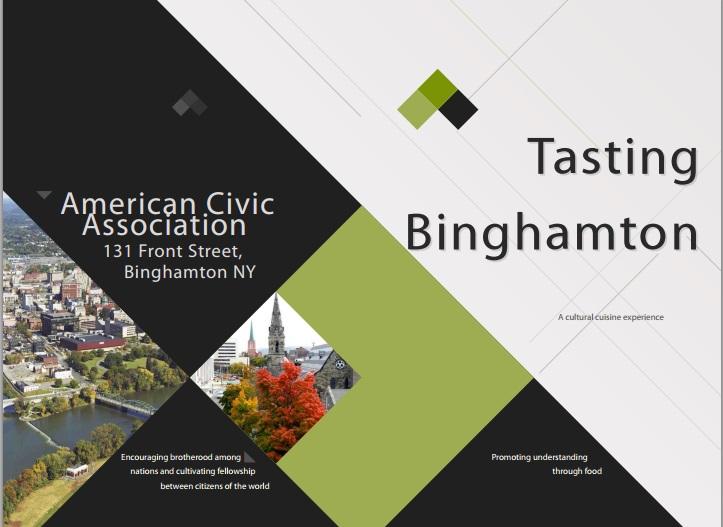 Tasting Binghamton Cover